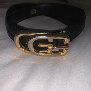 Authentic vintage black Gucci belt